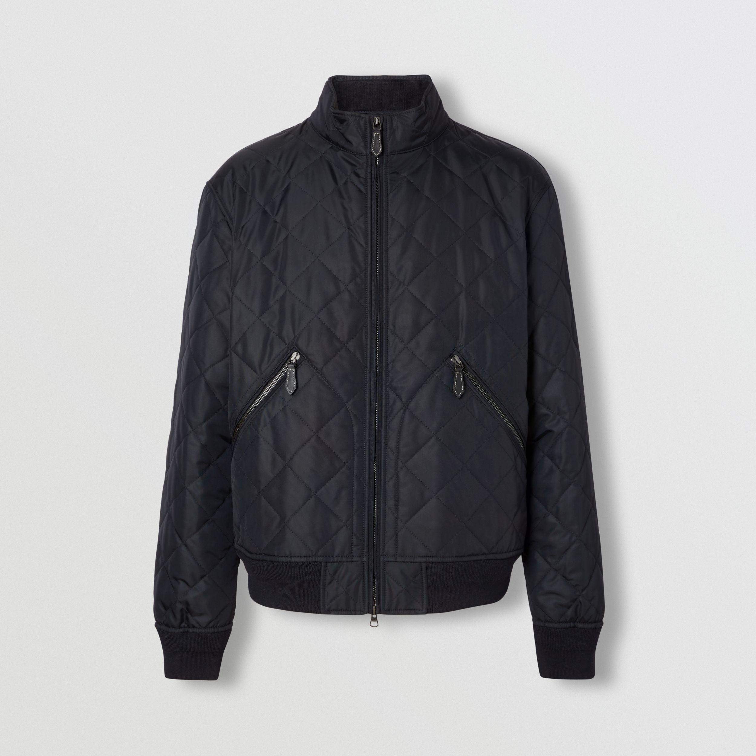 Diamond Quilted Thermoregulated Jacket in Navy - Men | Burberry - 4