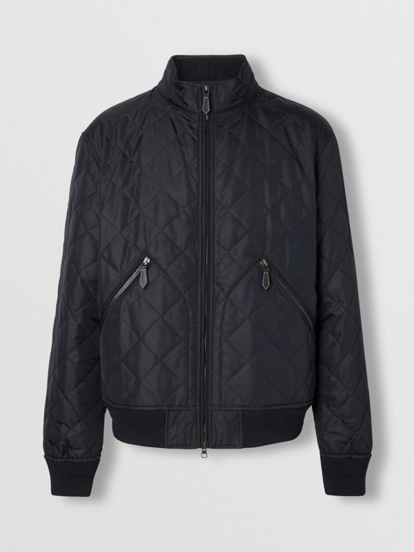 Diamond Quilted Thermoregulated Jacket in Navy - Men | Burberry - cell image 3