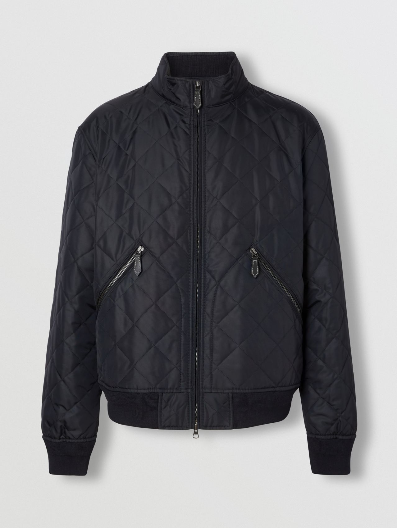 Diamond Quilted Thermoregulated Jacket in Navy