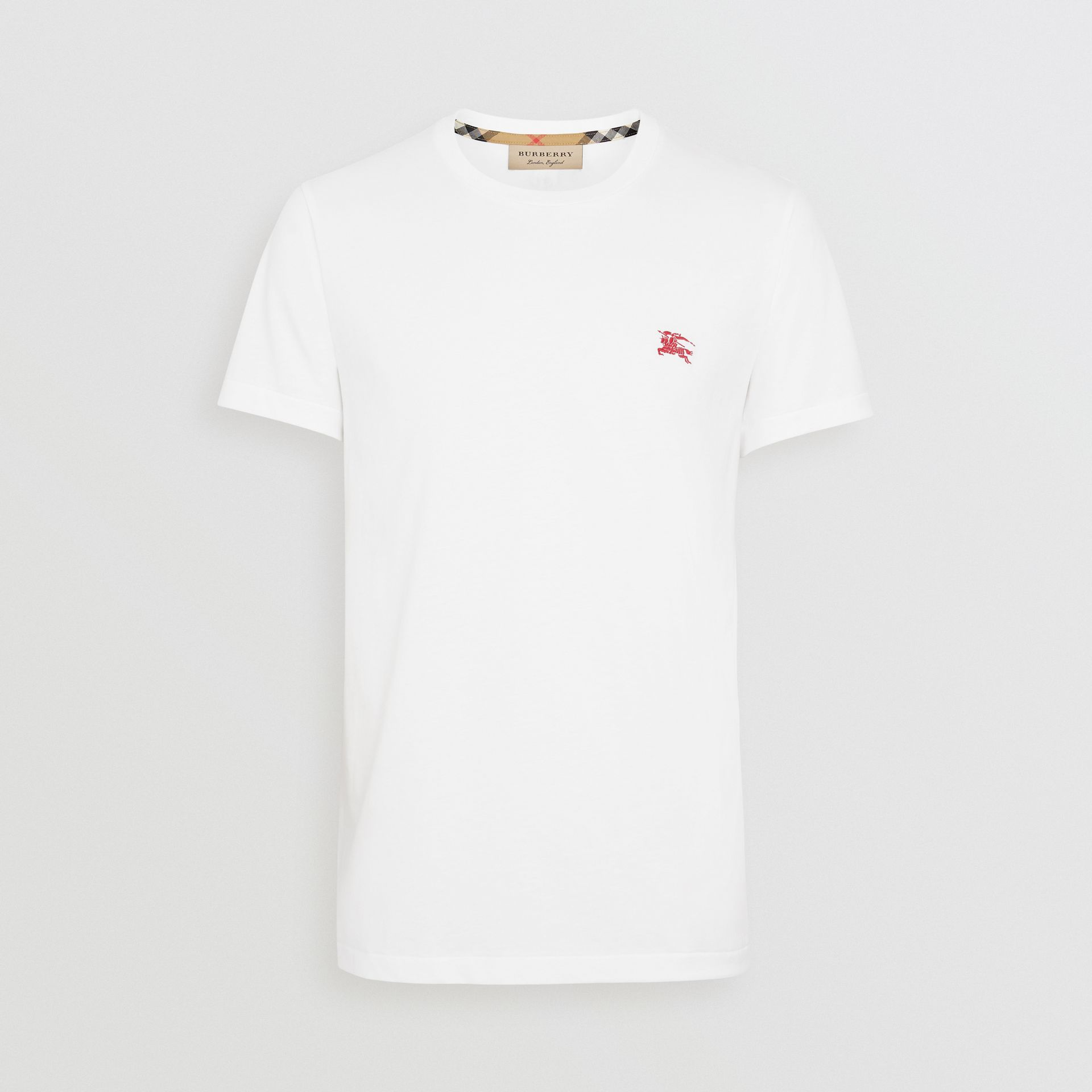 Cotton Jersey T-shirt in White - Men | Burberry United States - gallery image 3