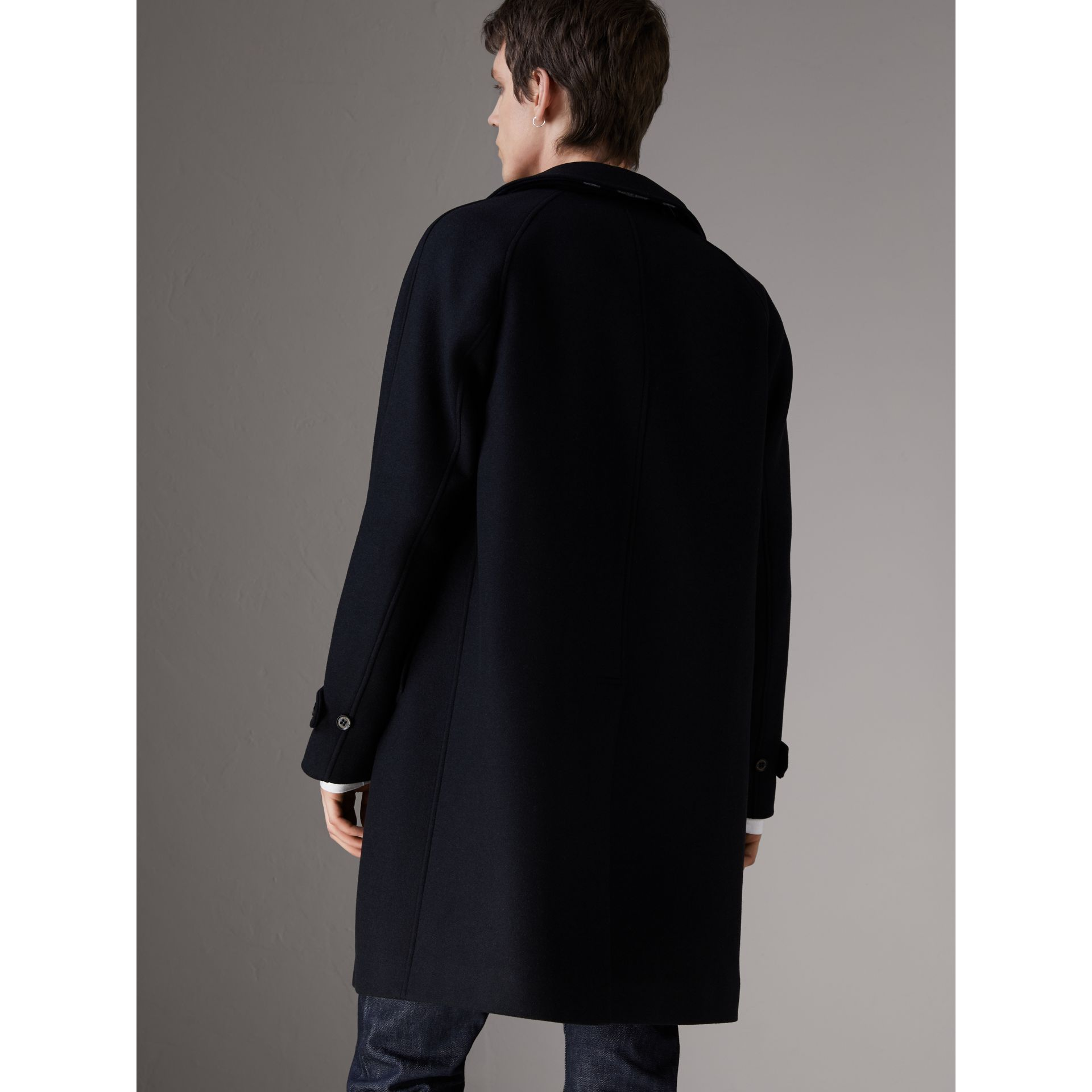 Cashmere Car Coat in Navy - Men | Burberry - gallery image 2