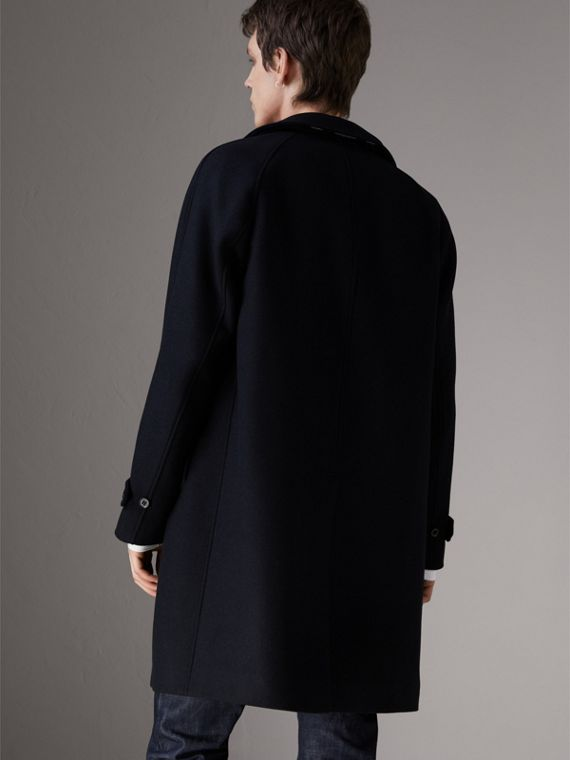 Cashmere Car Coat in Navy - Men | Burberry - cell image 2