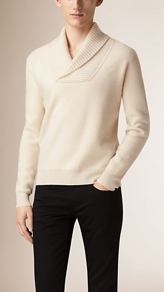 Shawl Neck Wool Cashmere Sweater