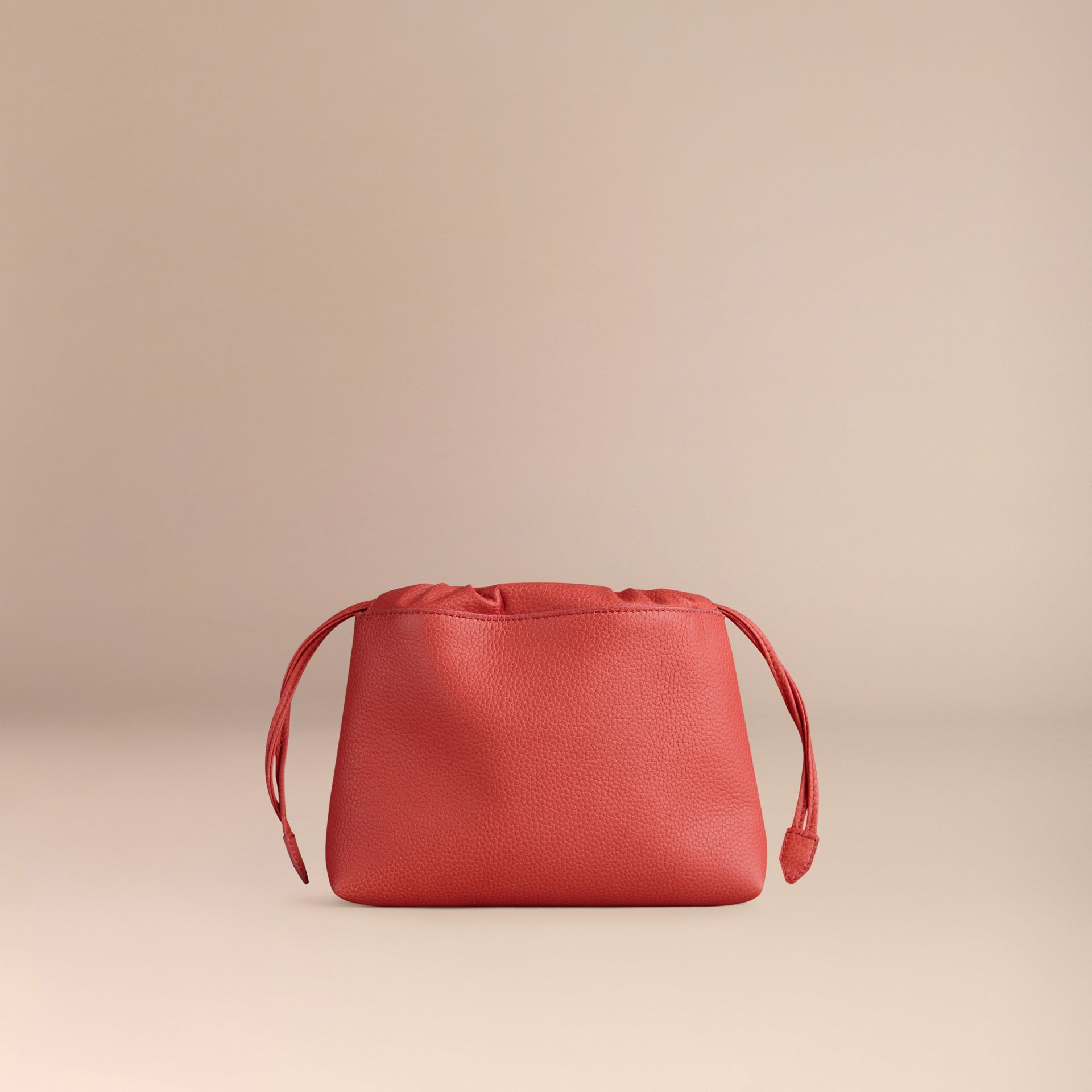 Bright peony The Mini Crush in Grainy Leather Bright Peony - gallery image 4