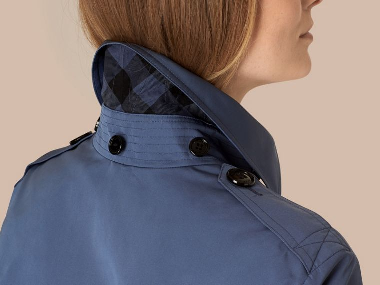 Pale lupin blue Showerproof Trench Coat with Detachable Hood Pale Lupin Blue - cell image 1