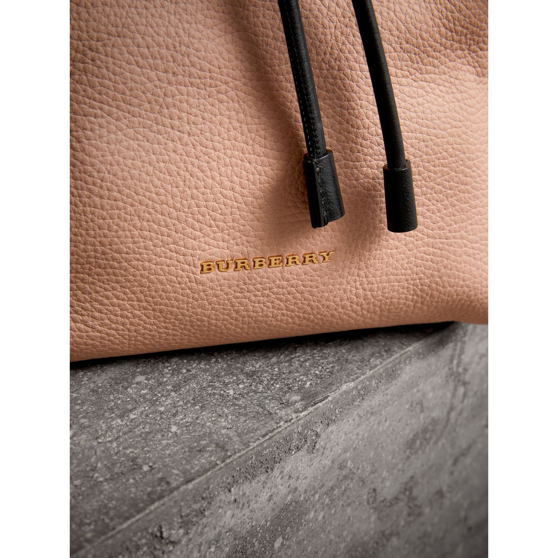 The Medium Rucksack in Deerskin with Resin Chain in Pale Apricot - Women | Burberry - gallery image 2
