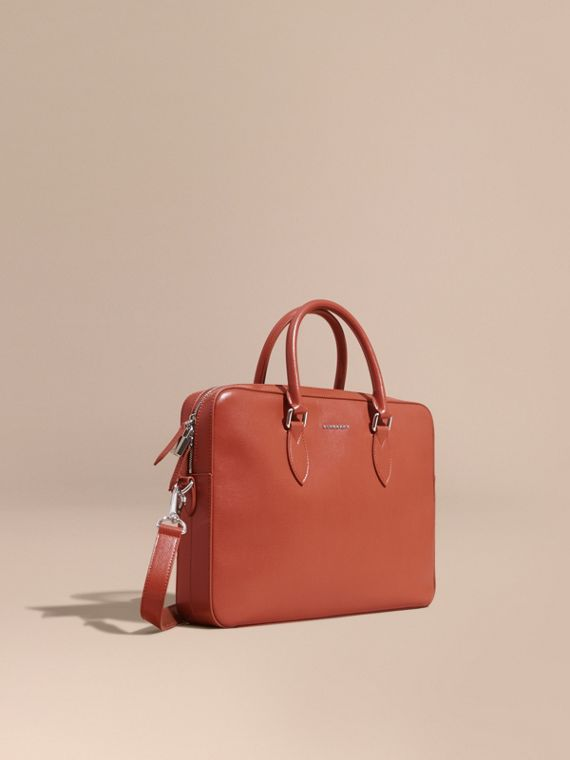 London Leather Briefcase Burnt Sienna