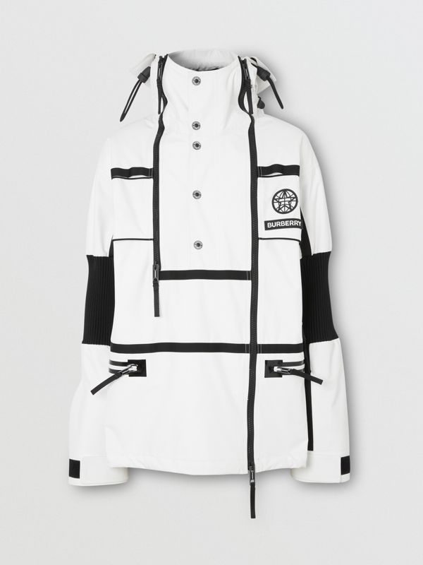 Rekonstruierte Trainingsjacke aus Nylon mit Planeten-Grafik (Optic-weiß) | Burberry - cell image 3