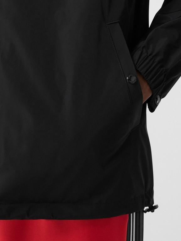 Tape Print Shape-memory Taffeta Jacket in Black - Men | Burberry Hong Kong S.A.R - cell image 1