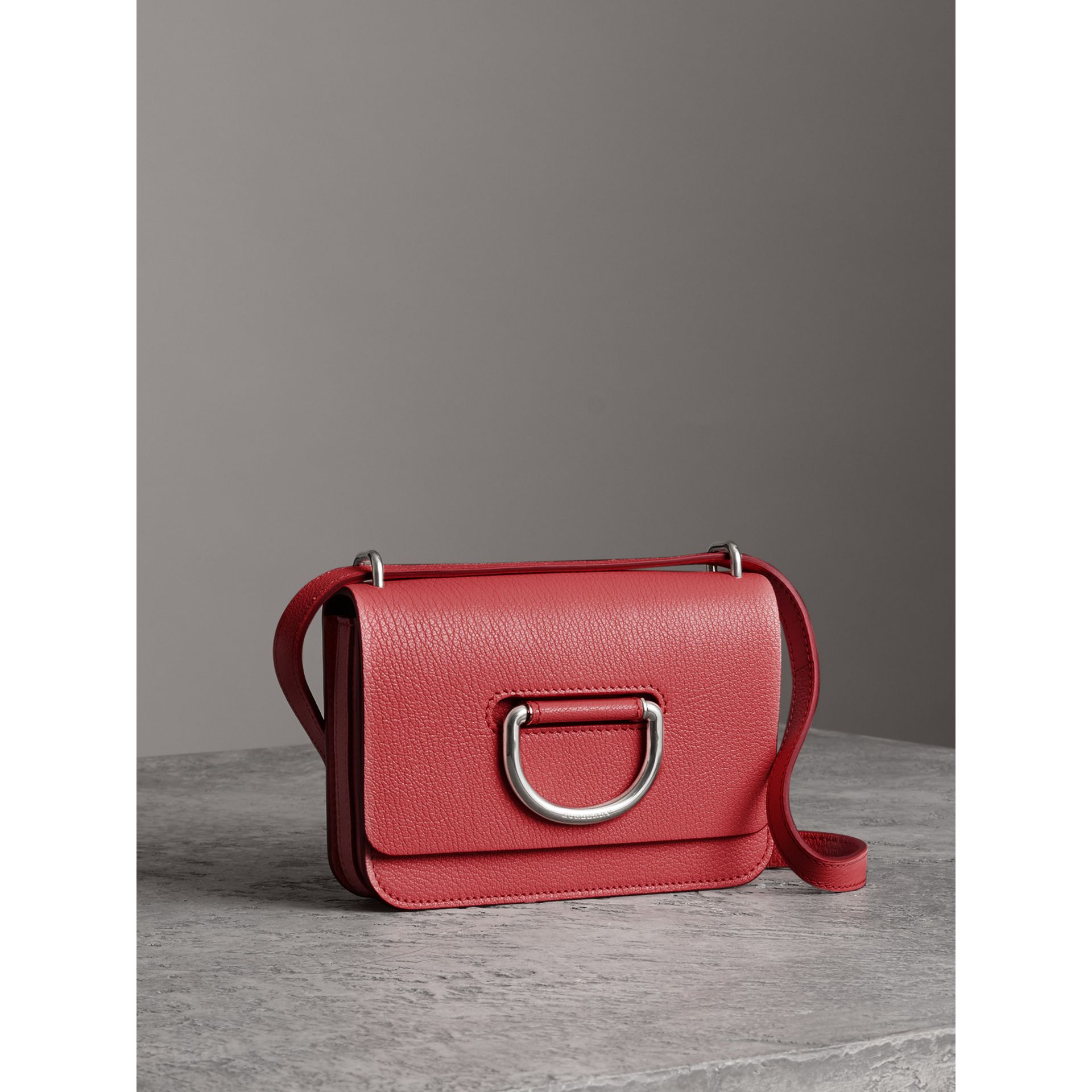 The Mini Leather D-ring Bag in Bright Coral Pink - Women | Burberry Australia - gallery image 6