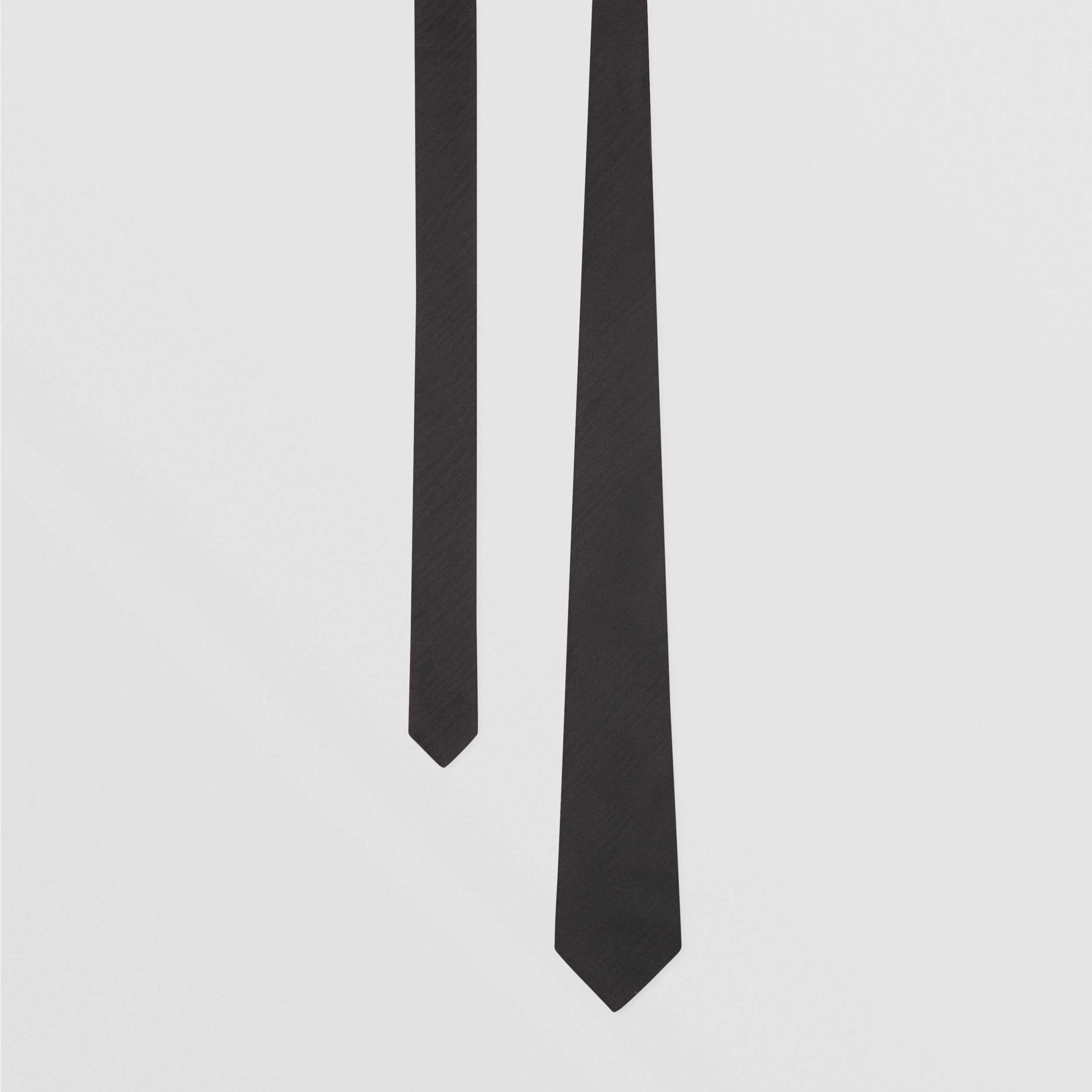 Classic Cut Silk Moire Jacquard Tie in Black - Men | Burberry - 1