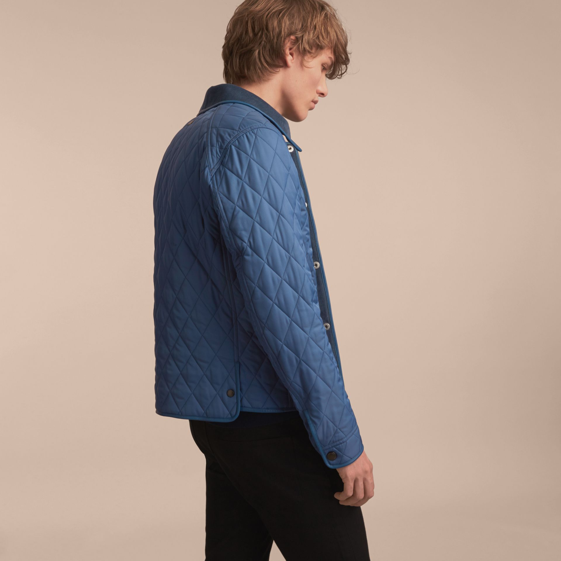 Diamond Quilted Jacket with Leather Trim - gallery image 3