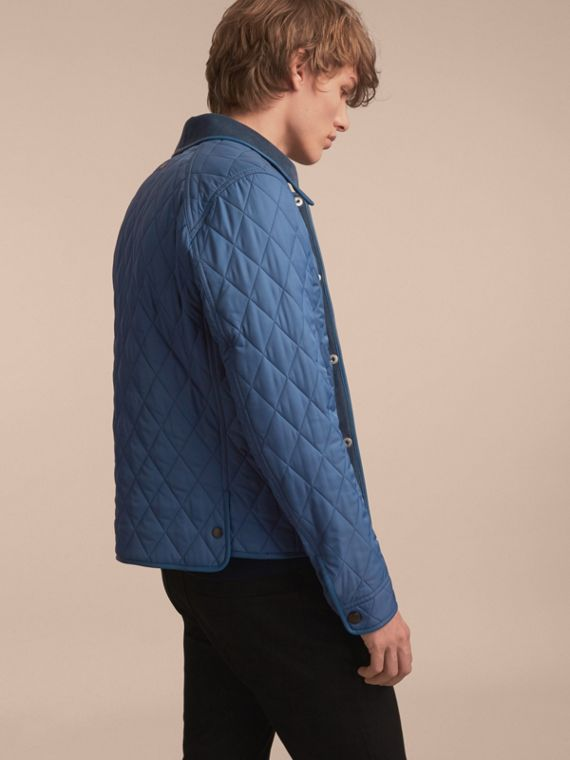 Diamond Quilted Jacket with Leather Trim - cell image 2