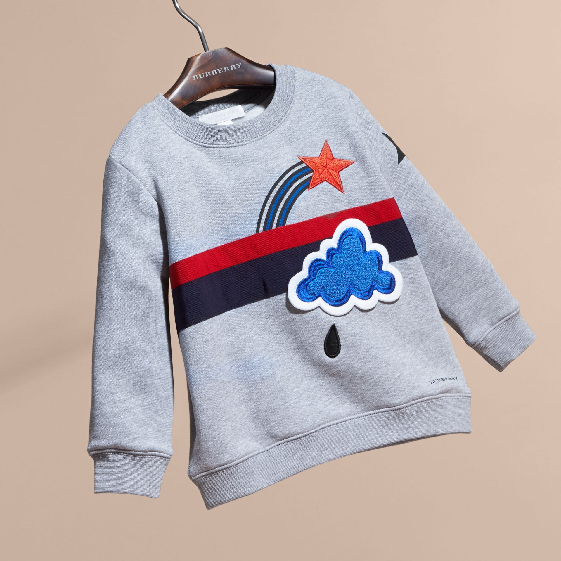 Appliquéd Weather Graphic Jersey Sweatshirt - gallery image 3