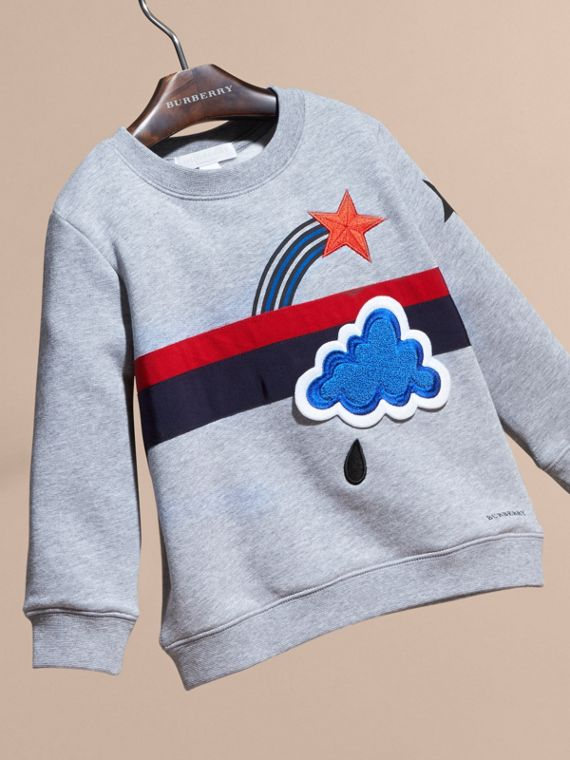 Appliquéd Weather Graphic Jersey Sweatshirt - cell image 2