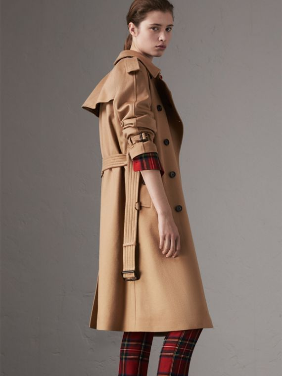 Cashmere Trench Coat in Camel - Women | Burberry Canada - cell image 2