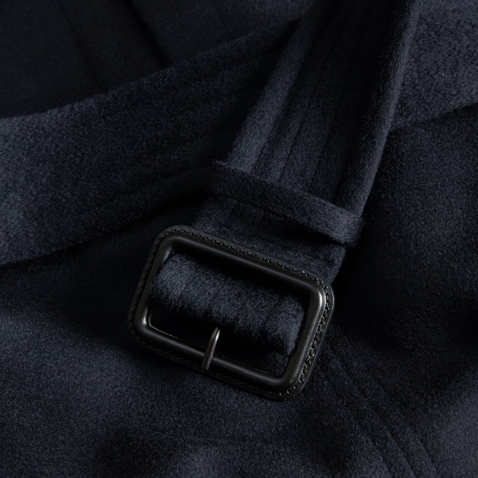Navy Cashmere Trench Coat Navy - gallery image 2