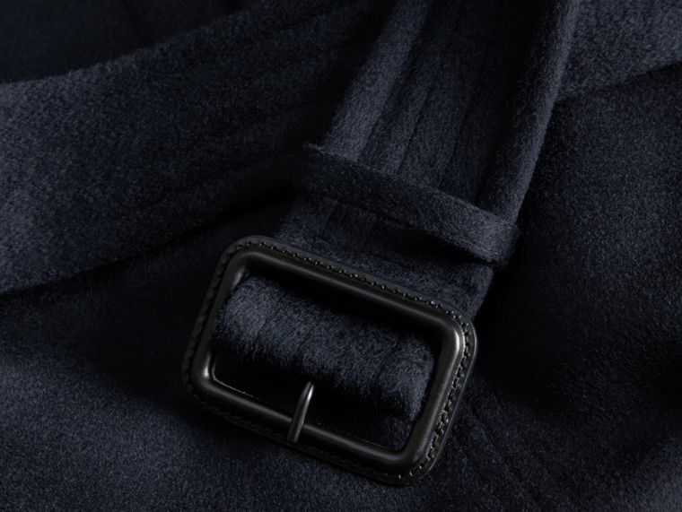 Cashmere Trench Coat Navy - cell image 1