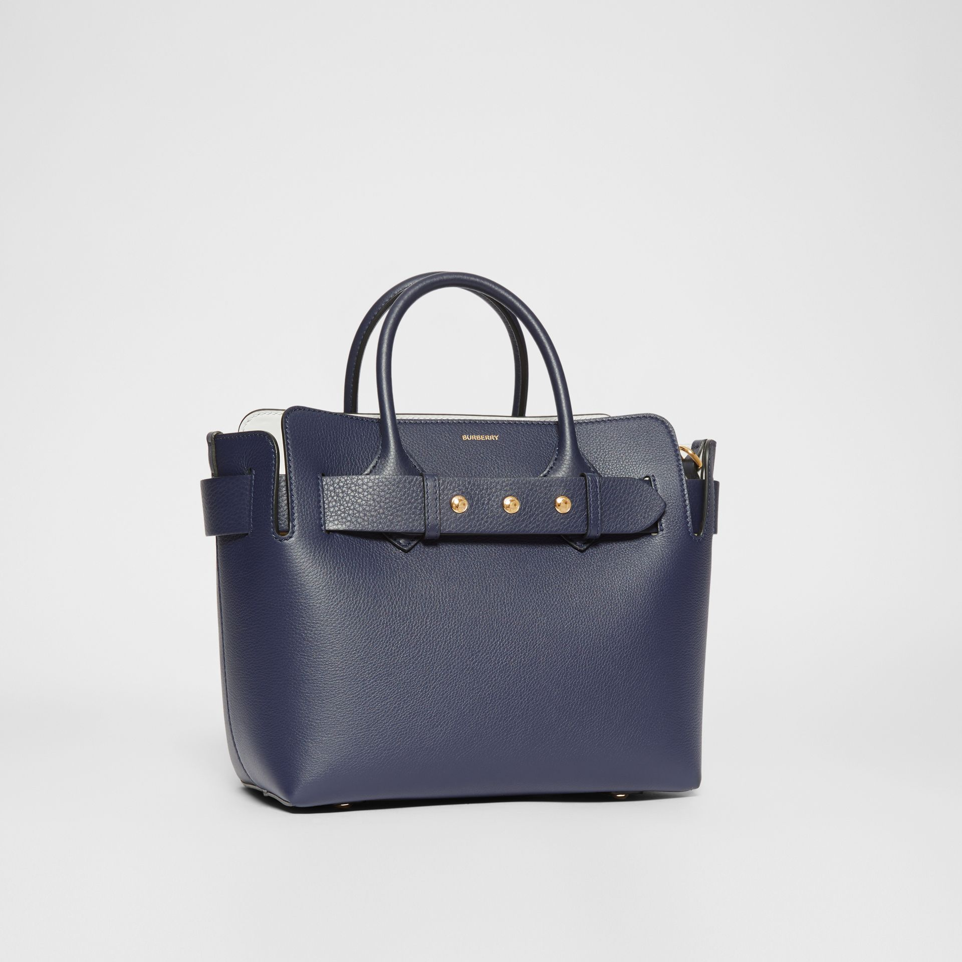 The Small Leather Triple Stud Belt Bag in Regency Blue - Women | Burberry - gallery image 6