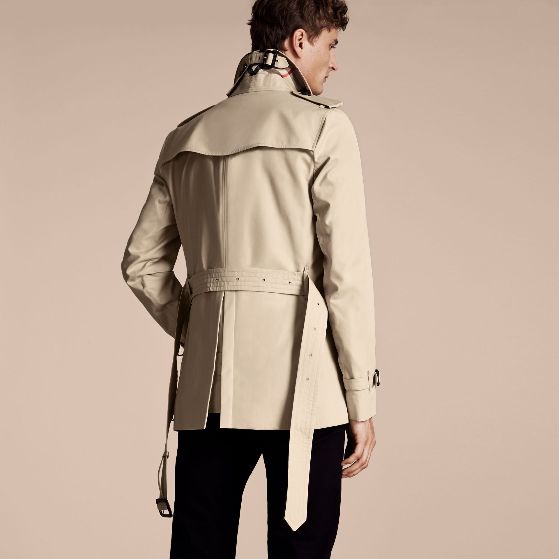 Stone The Sandringham – Short Heritage Trench Coat Stone - gallery image 3