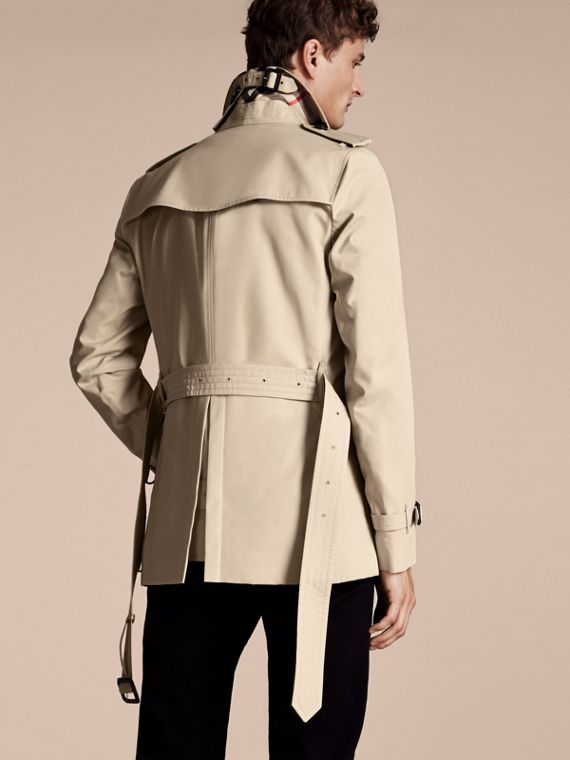 Stone The Sandringham – Short Heritage Trench Coat Stone - cell image 2