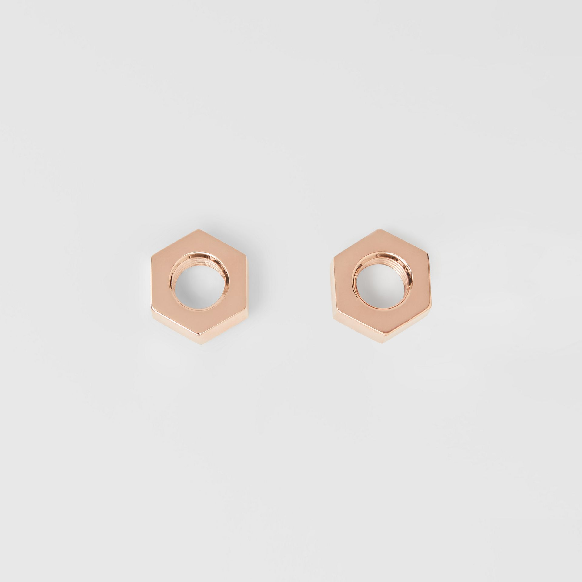 Rose Gold-plated Nut Earrings - Women | Burberry - gallery image 1