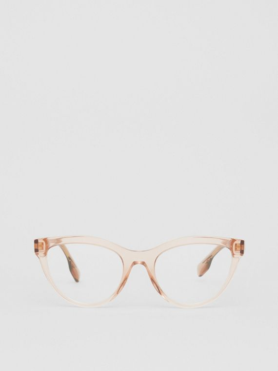Monogram Motif Cat-eye Optical Frames in Transparent Peach
