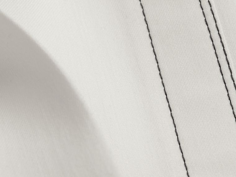White Wool Silk Wide Leg Trousers - cell image 1