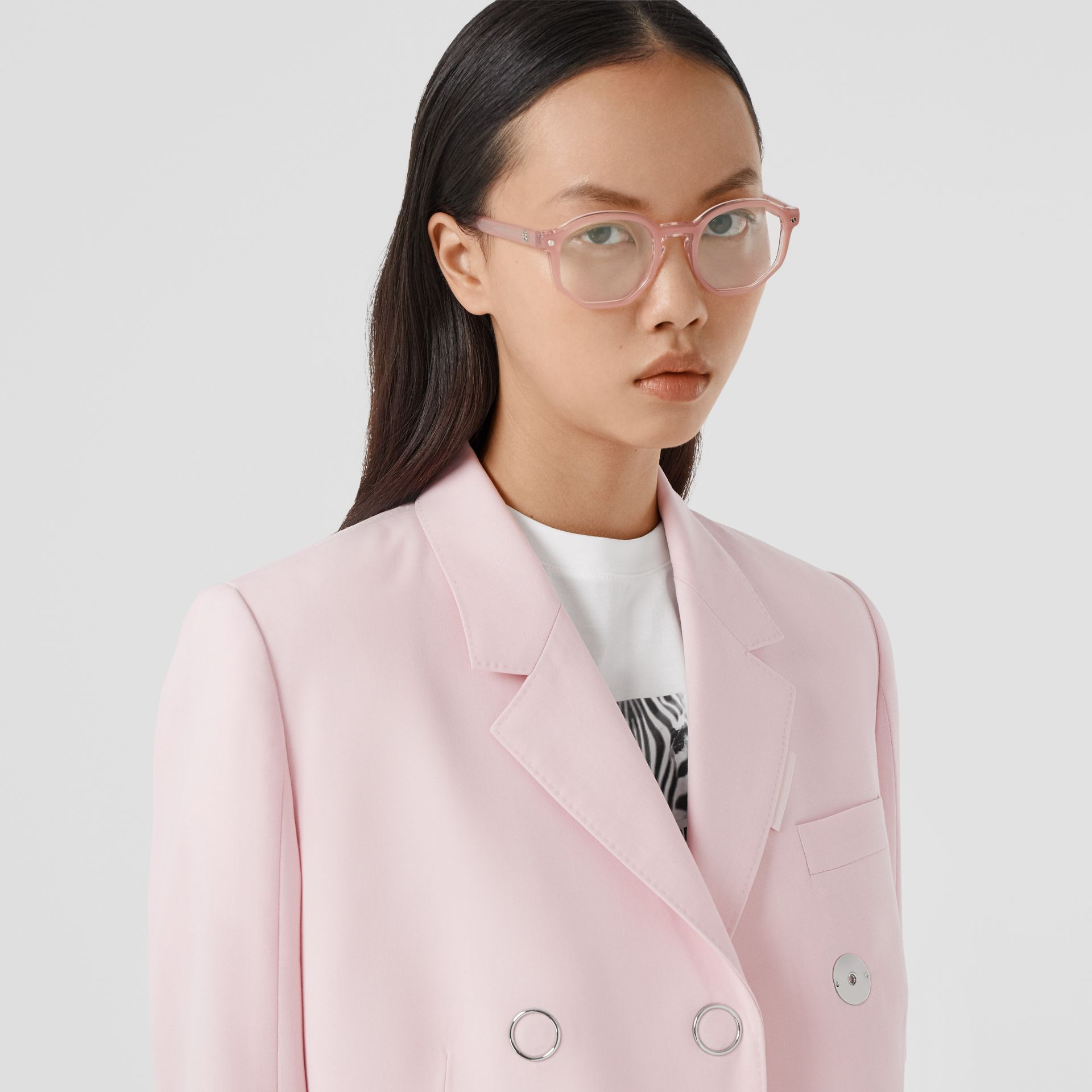 Geometric Optical Frames in Pink - Women | Burberry United Kingdom - gallery image 2