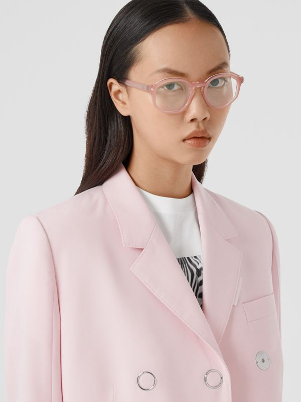 Geometric Optical Frames in Pink - Women | Burberry United Kingdom - cell image 2