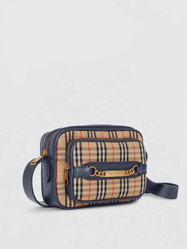 The 1983 Check Link Camera Bag in Ink Blue | Burberry - cell image 3
