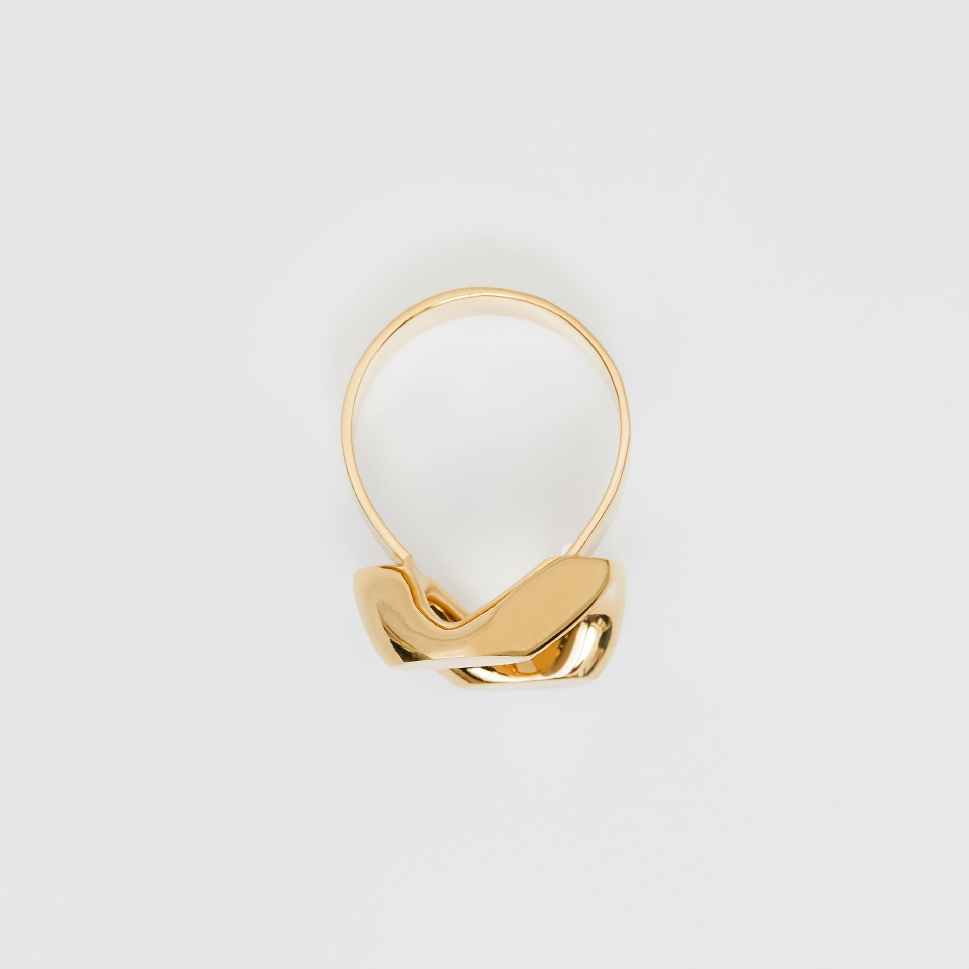 Gold-plated Chain-link Ring in Light - Women | Burberry - gallery image 0
