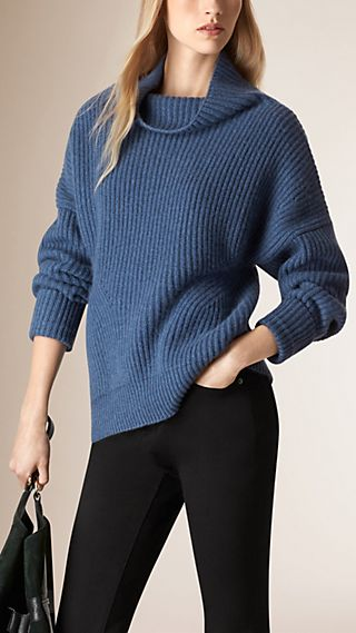 Ribbed Cashmere Cotton Sweater