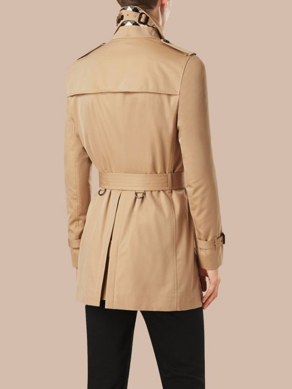 Trench coat medio in gabardine di cotone - Uomo | Burberry - cell image 3