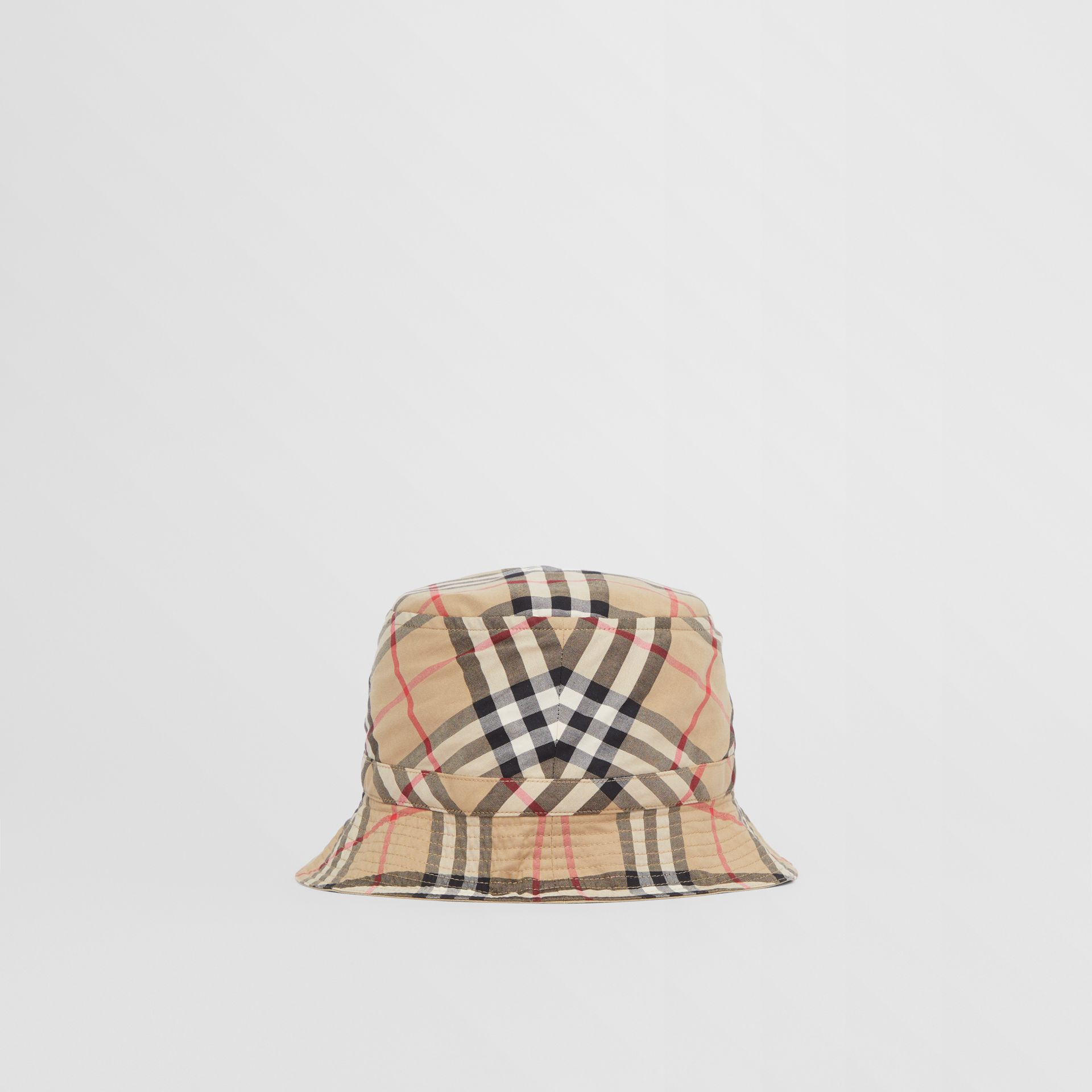 Vintage Check Cotton Bucket Hat in Archive Beige - Children | Burberry United Kingdom - gallery image 3