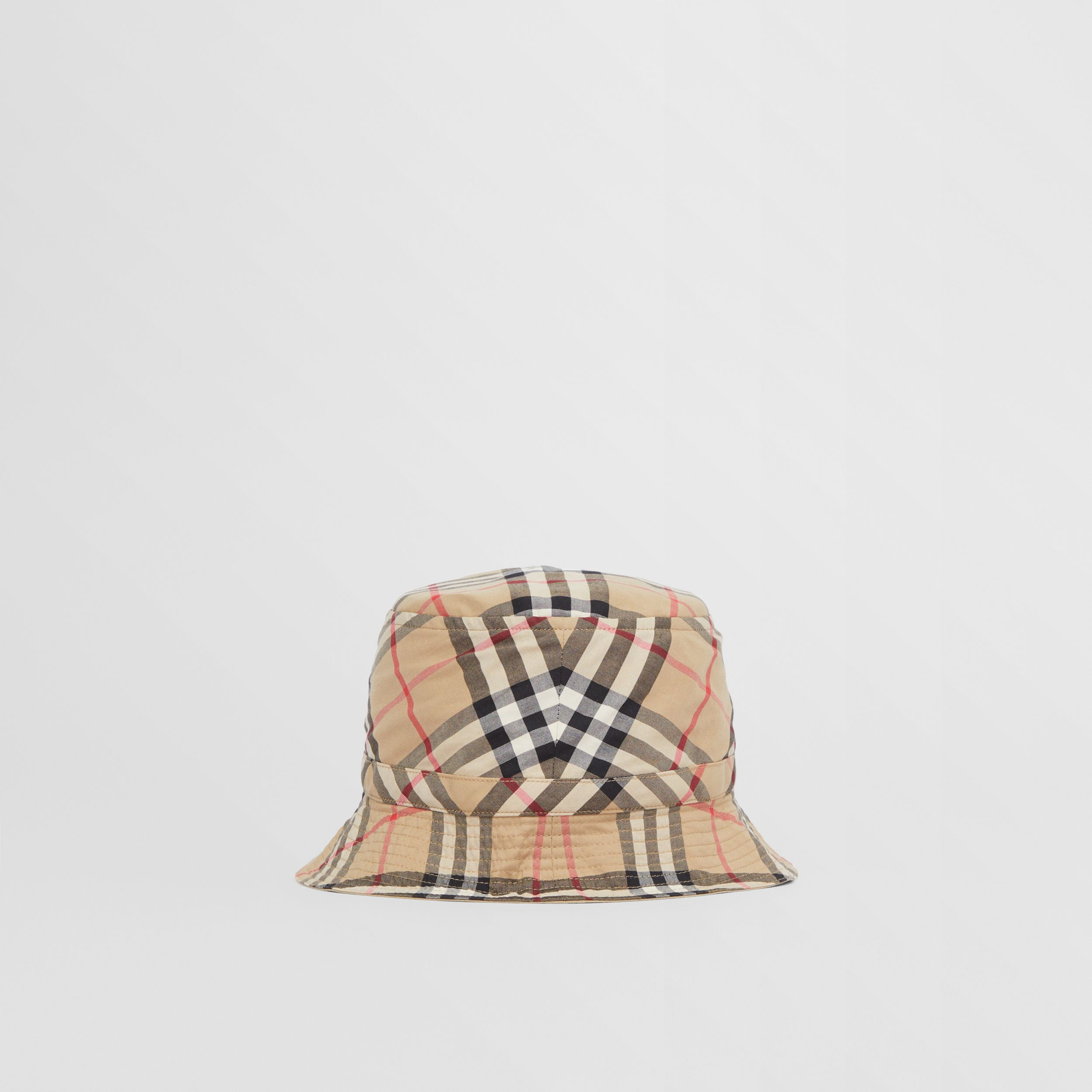 Vintage Check Cotton Bucket Hat in Archive Beige - Children | Burberry - 4
