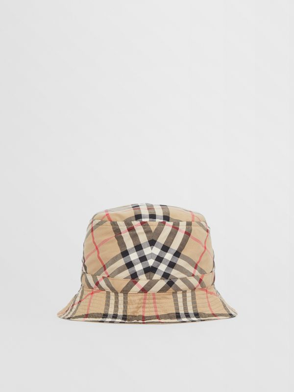 Vintage Check Cotton Bucket Hat in Archive Beige - Children | Burberry United Kingdom - cell image 3