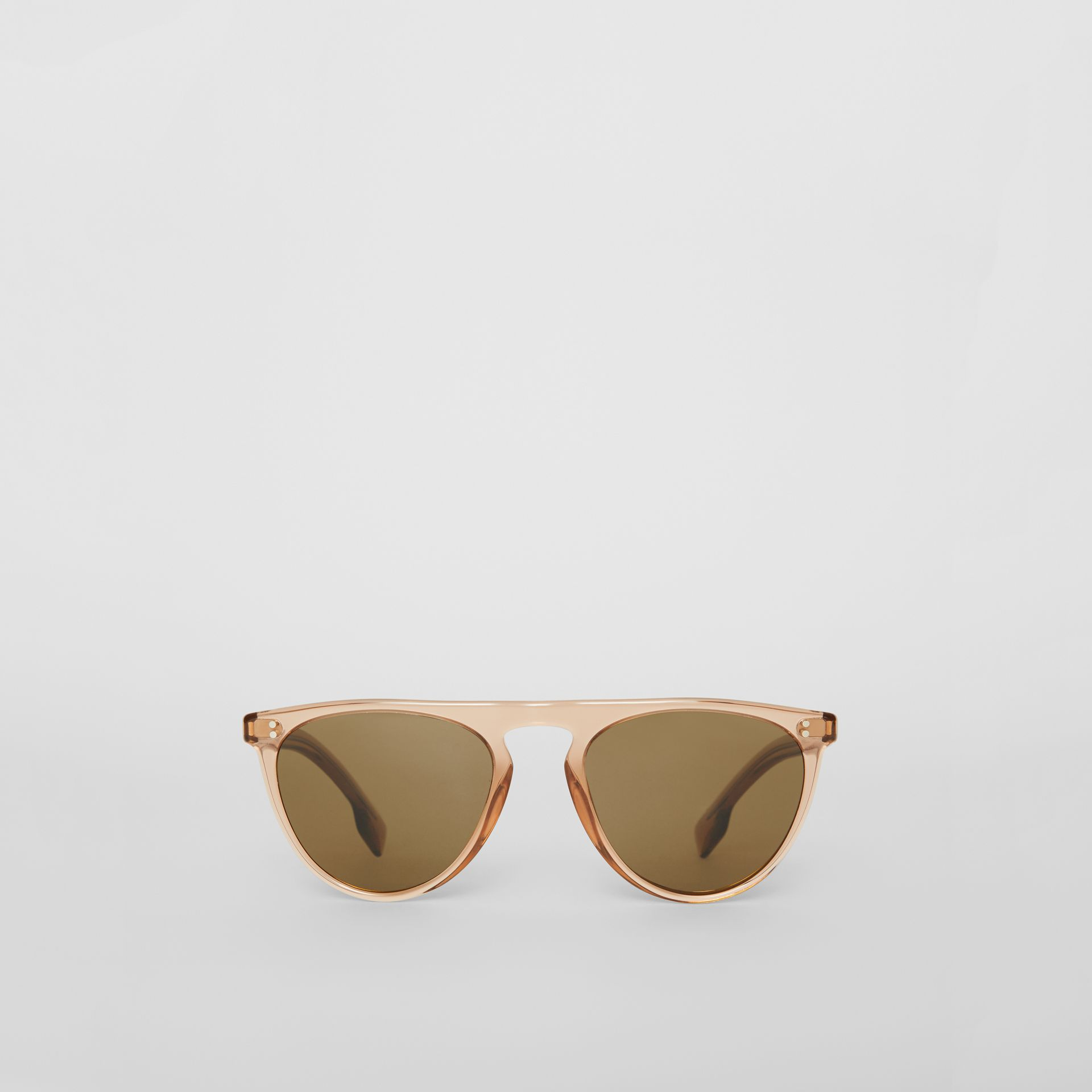 Keyhole D-shaped Sunglasses in Brown - Men | Burberry Canada - gallery image 0