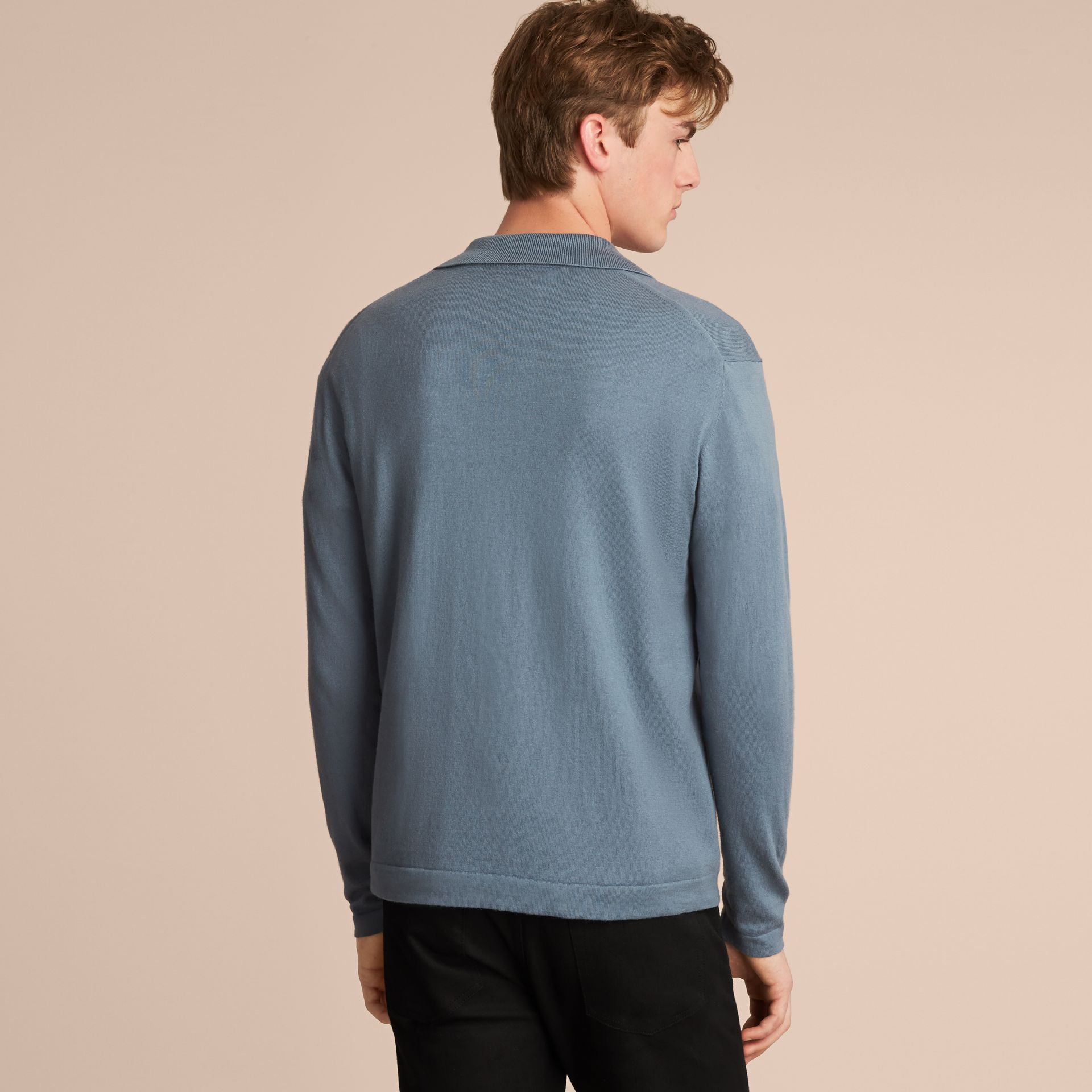 Cotton Cashmere Zip-front Top - Men | Burberry - gallery image 3