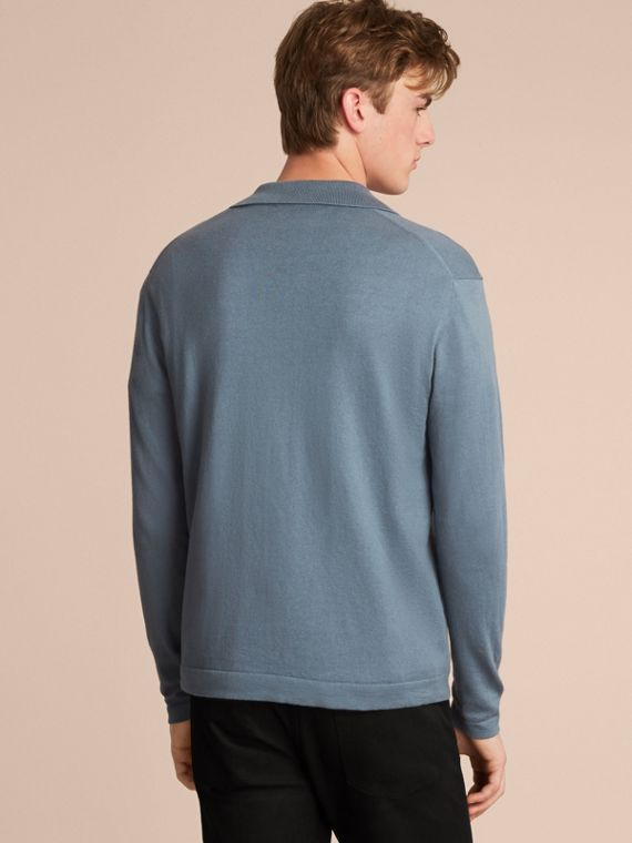 Cotton Cashmere Zip-front Top - Men | Burberry - cell image 2