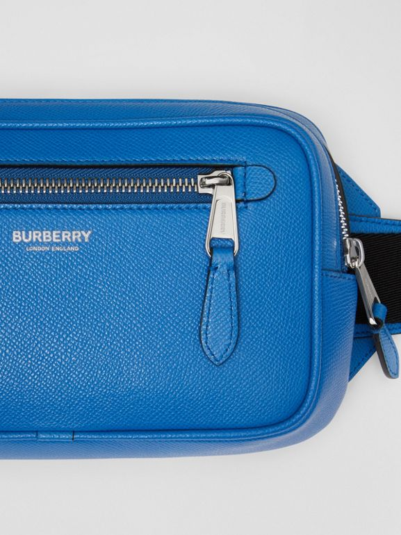 Grainy Leather Bum Bag in True Blue - Men | Burberry United States - cell image 1