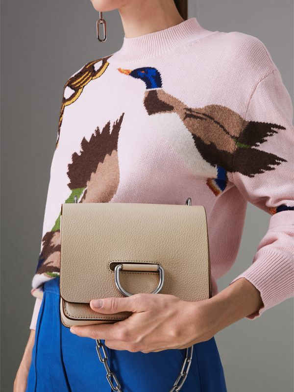 The Small Leather D-ring Bag in Stone - Women | Burberry - cell image 3