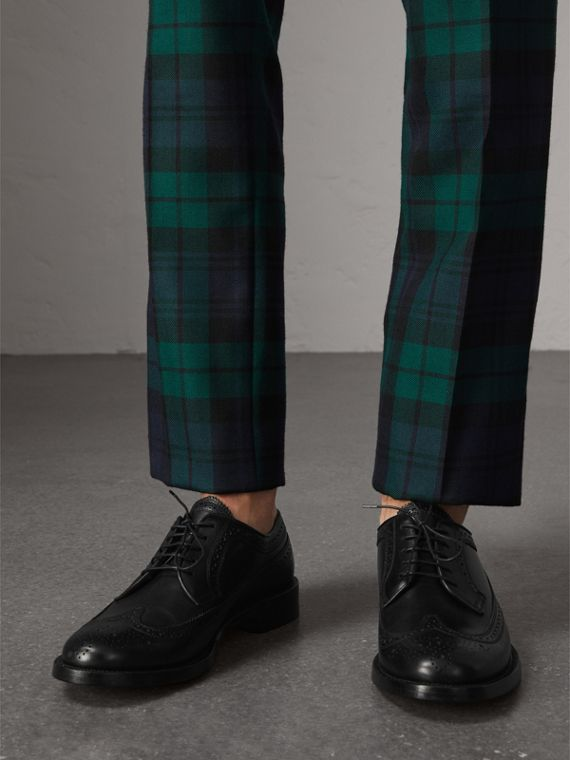 Leather Derby Brogues in Black - Men | Burberry Australia - cell image 2