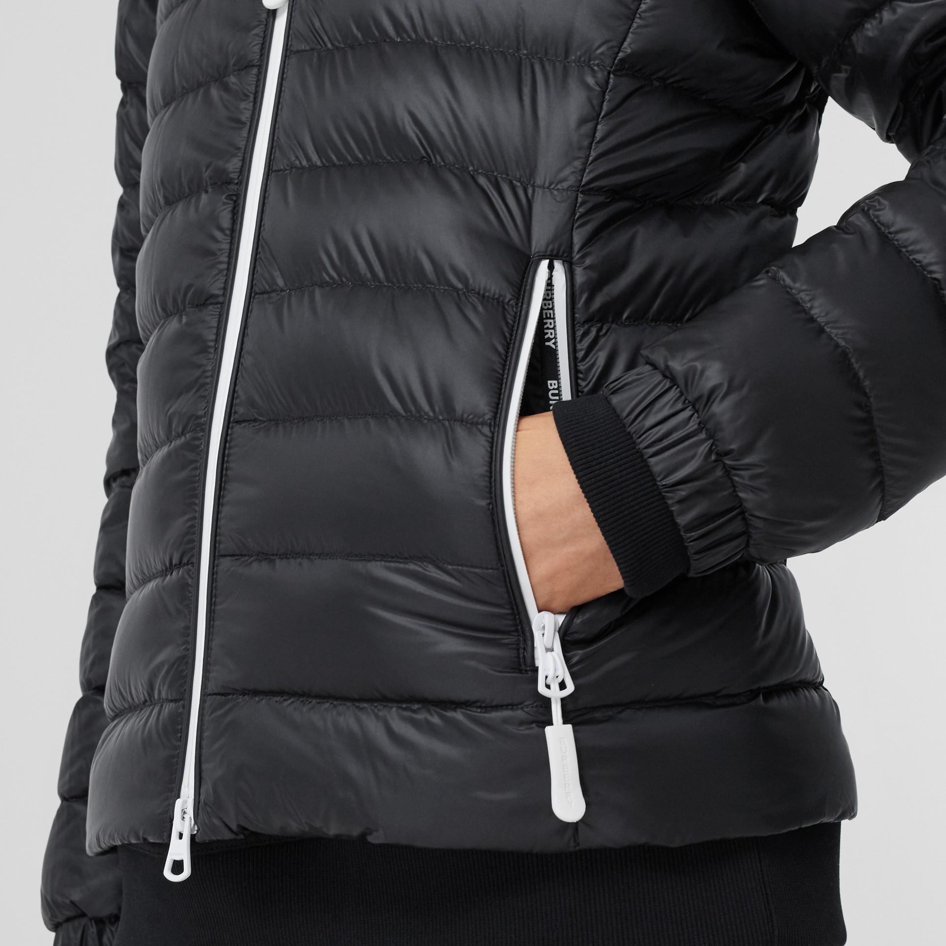 Logo Print Lightweight Puffer Jacket in Black - Women | Burberry Hong Kong S.A.R - gallery image 4