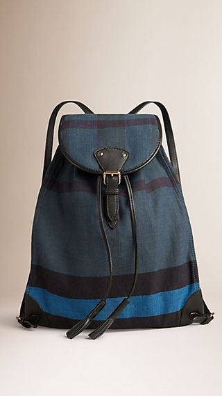 Overdyed Canvas Check Backpack