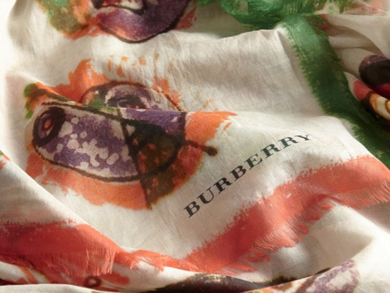 Pallas Heads Print Cotton Square – Large - Women | Burberry - cell image 1