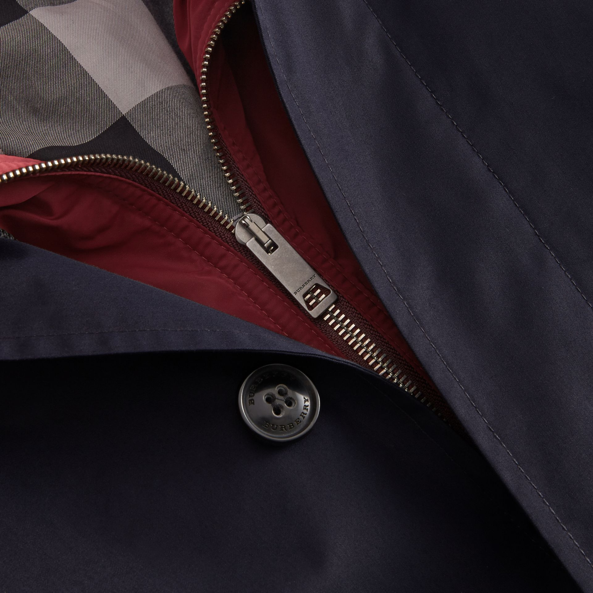 Lightweight Cotton Car Coat with Detachable Gilet Navy - gallery image 2