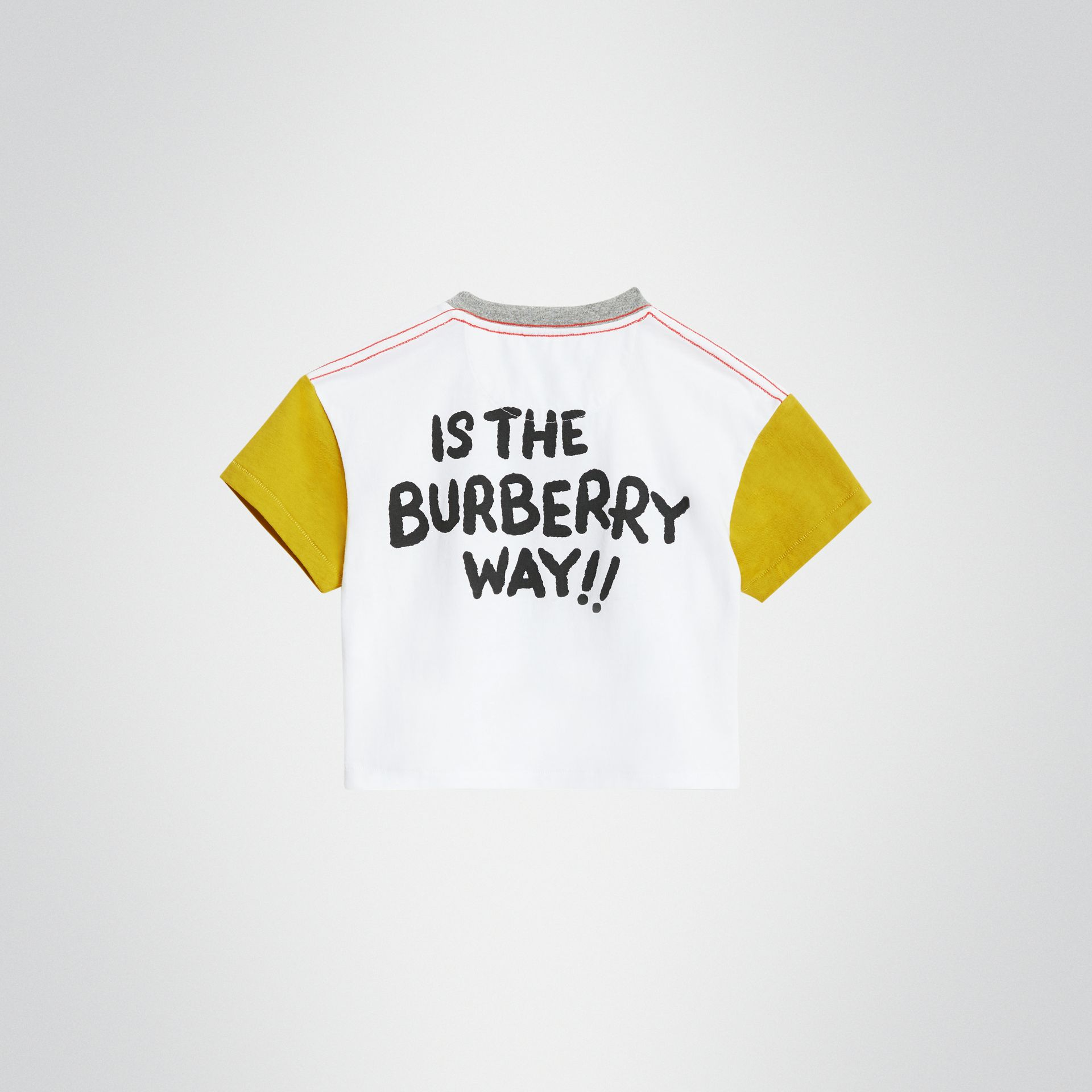 Cartoon Print Cotton T-shirt in Natural White - Children | Burberry - gallery image 4