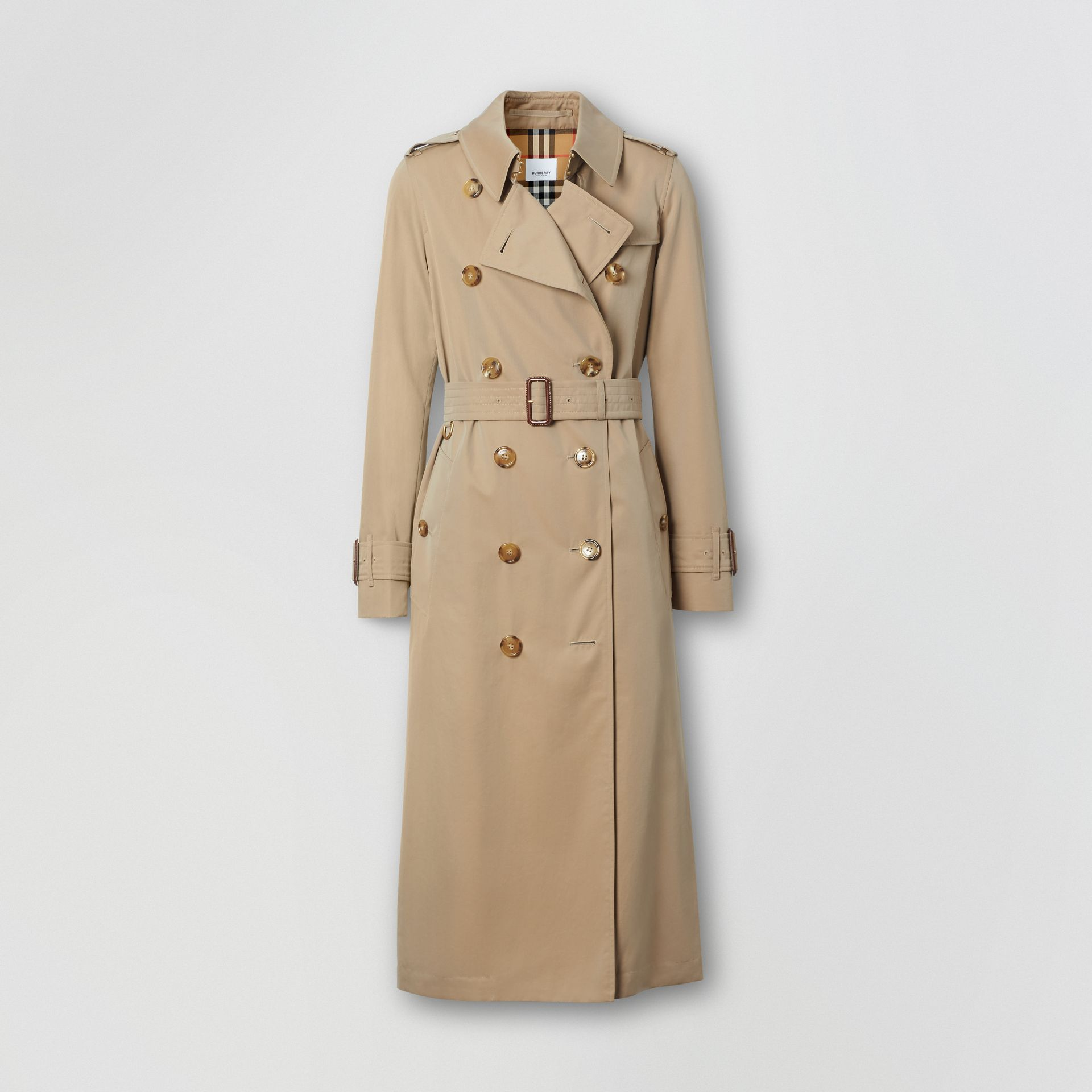 Tropical Gabardine Trench Coat in Honey - Women | Burberry Singapore - gallery image 3