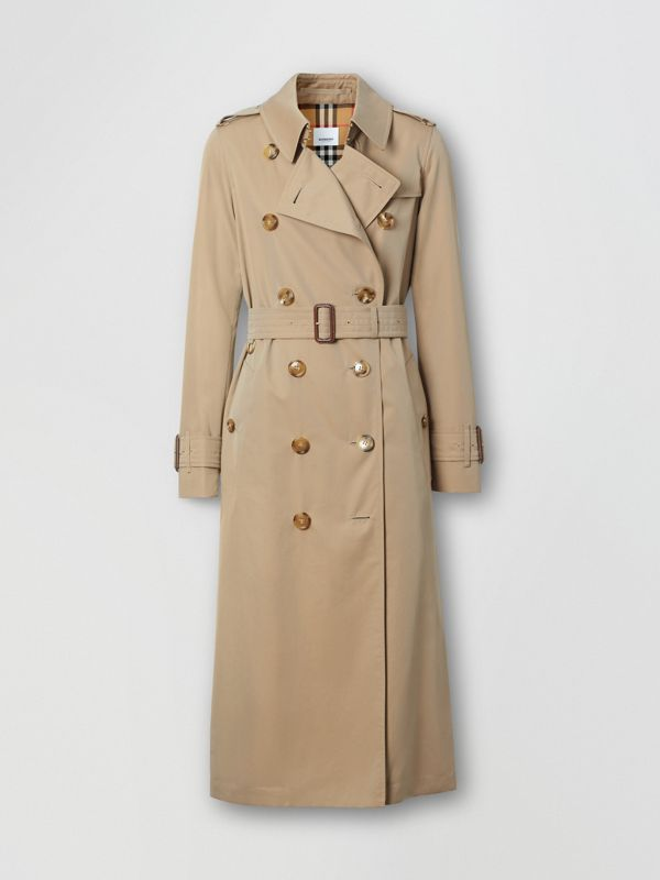 Tropical Gabardine Trench Coat in Honey - Women | Burberry - cell image 3